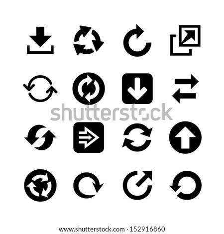 Flat arrow web icons. Icon set Stock photo ©