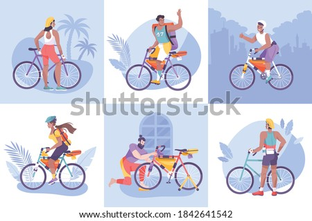 flat bike tourism composition