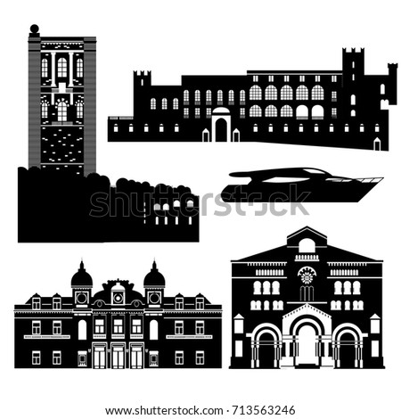 flat black and white building