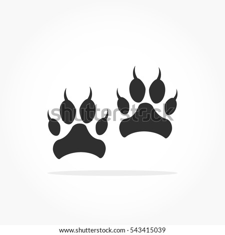 flat black animal footprints
