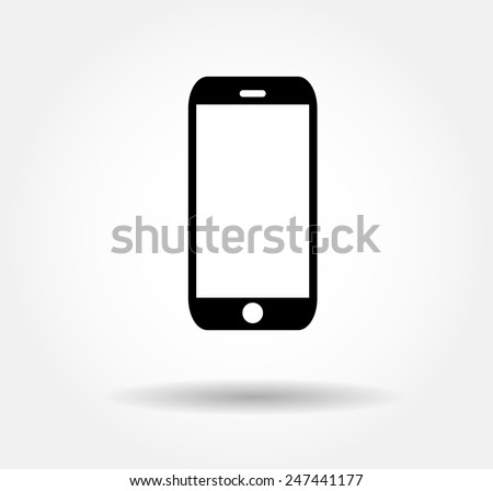flat black smartphone icon
