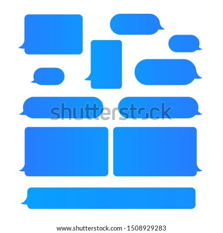 Flat blue messages bubbles icon for social media post or website banner.