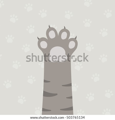flat brown cat's leg with gray