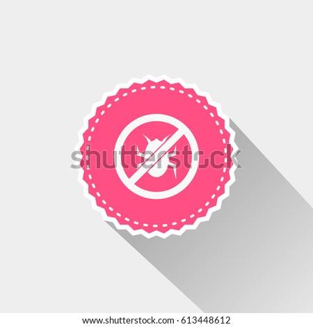 flat bug forbidden icon