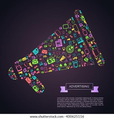 flat business media advertising ...
