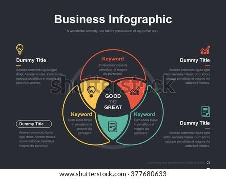 Venn diagram vector download free vector art stock graphics images flat business presentation vector slide template with circle venn diagram ccuart Images