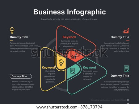 Green venn diagram download free vector art stock graphics images flat business presentation vector slide template with triangle venn diagram ccuart Gallery