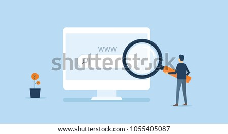 stock-vector-flat-business-technology-internet-online-research-in-web-browsing-concept-with-business-man-working