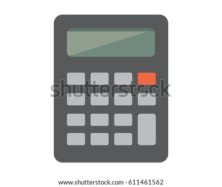Flat Calculator Vector Illustration or icon