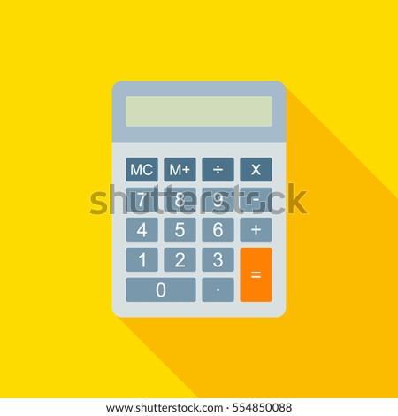 flat calculator vector...