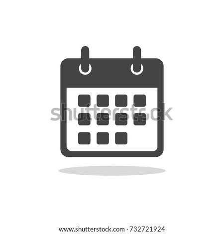 Flat calendar Icon. Calendar on the wall. Vector illustration.