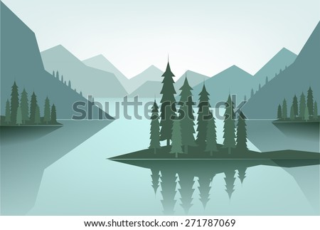 flat canadian landscape with