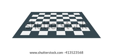 flat checker chess board square