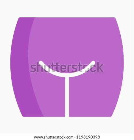 Flat clitoris pixel perfect vector icon
