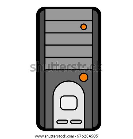 flat color computer system unit