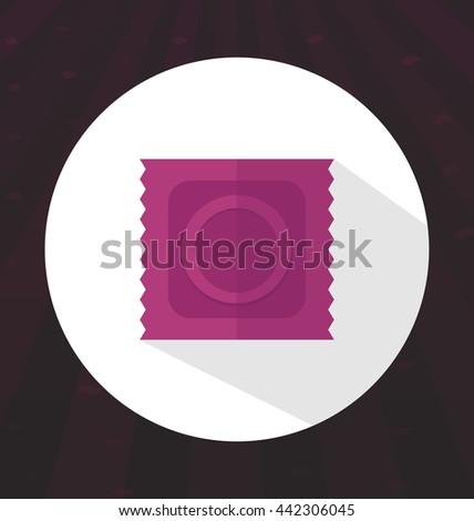 flat color condom icon  safe