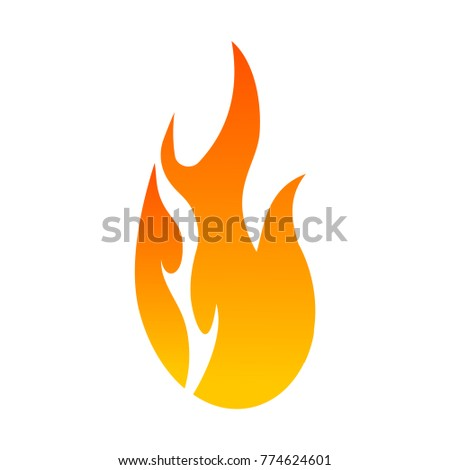 Flat color fire icon #774624601