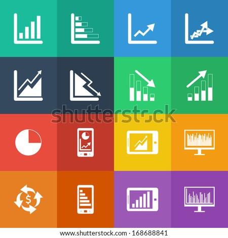 Graph icon vector set ...
