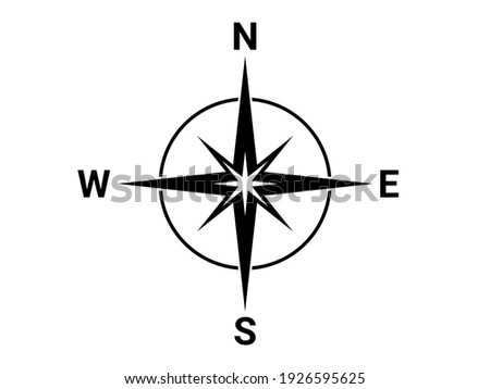 Flat compass direction illustration. North symbol Photo stock ©