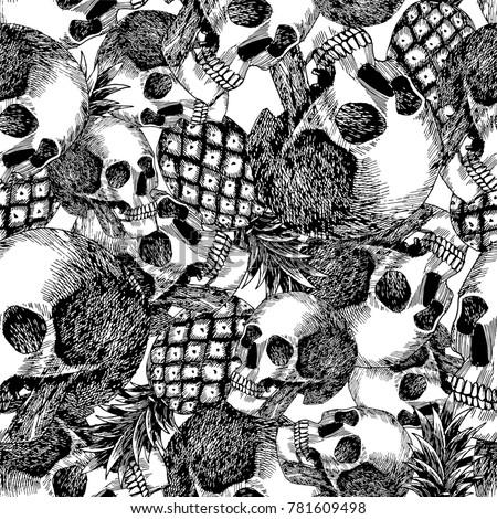 flat composition skull