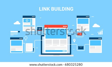 flat concept of link building