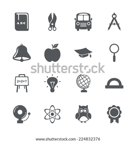 Flat concept set modern design with shadow icons for web design and mobile applications SEO search Engine Optimization education icons