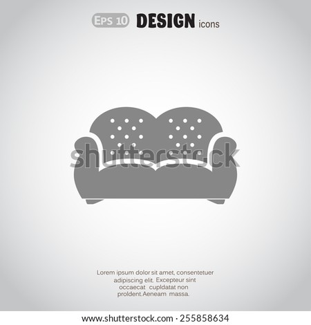 flat couch icon vector design