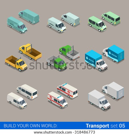 flat 3d isometric high quality