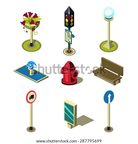 Traffic Icon Objects Icon Set Traffic