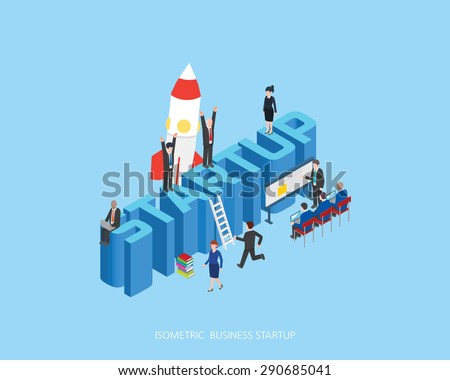 Flat 3d isometric vector illustration stark up concept design, Abstract urban modern style, high quality business series.