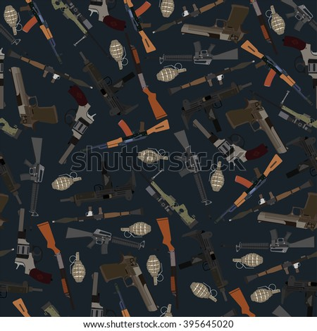 flat dark seamless pattern
