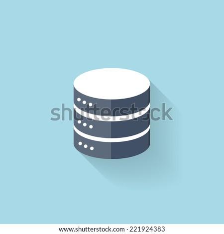 Flat data storage icon for web.