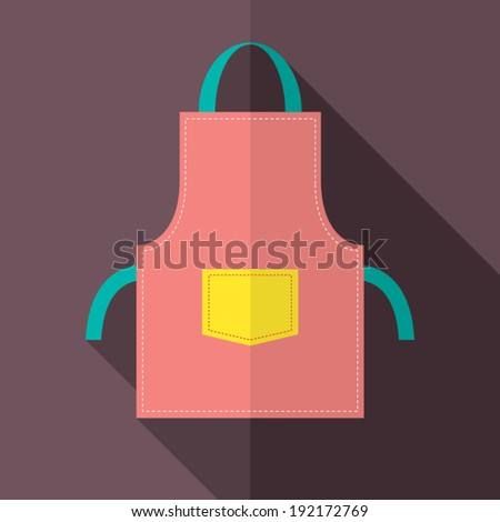 Flat Design Apron Vector Illustration