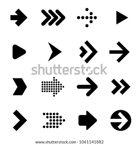 Flat design arrow icon set. Vector.