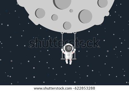 flat design  astronaut are