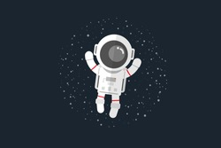 Flat design, Astronauts float in space, Vector illustration, Infographic Element