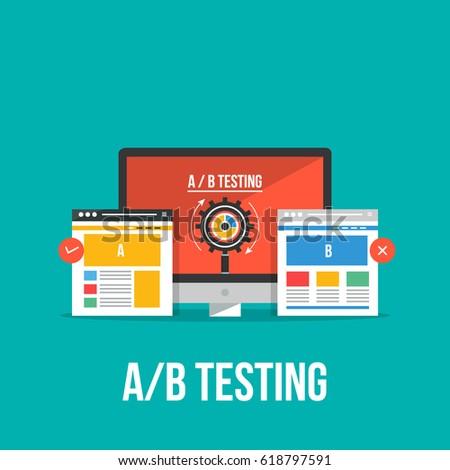 flat design concept of ab