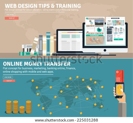 flat design concepts for business web design tips