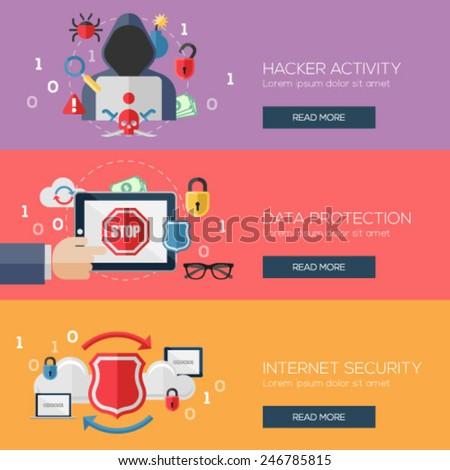 flat design concepts for hacker