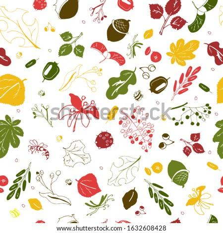 flat design doodle floral