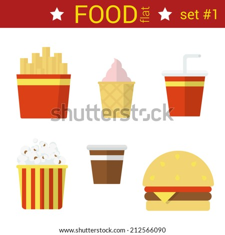 Fast Icon Design Flat Design Fast Food Vector