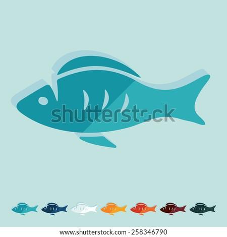 flat design fish