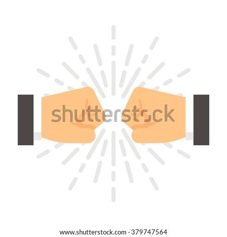 flat design fist bump