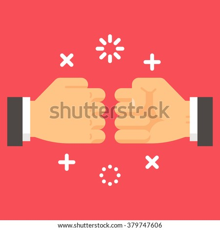 flat design fist bump