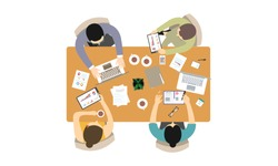 Flat design for business teamwork, analysis, consulting, project management, financial report and strategy . Illustration oncepts web banner and printed materials.