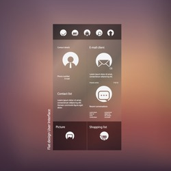Flat design graphic user interface concept with space for text suitable for infographics or advertisement. Eps10 vector illustration