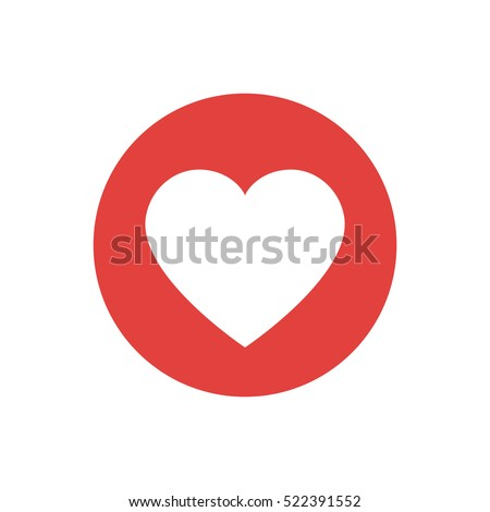 Flat design heart icon