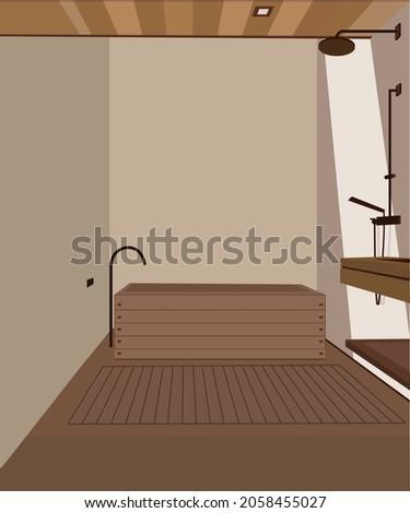 FLAT DESIGN ILLUSTRATION FOR BATHROOM ESTHETIC