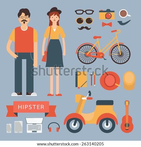 flat design illustration in