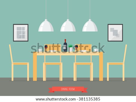 Dining Room Vector Design Download Free Vector Art Stock Graphics